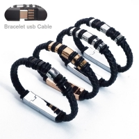 Buy cheap USB 2.0 Charging Cable Phone Charger Bracelet With Rings 5V 2.4A 20cm from wholesalers