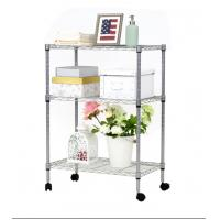 Wholesale Durable Organizer Free Standing Shelves , Metal Wire Rack For Kitchen Garage Pantry from china suppliers