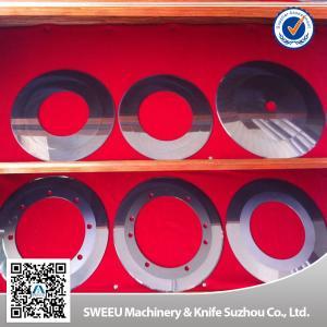 Sturdy Rotary Slitter Blades Round Disc , Paper Slitter Blades Wear Resistance