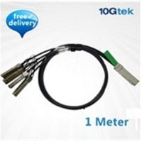 Wholesale QSFP+ to 4 SFP+ Copper Breakout Cable 1m, Passive (QSFP-4SFP10G-CU1M) from china suppliers
