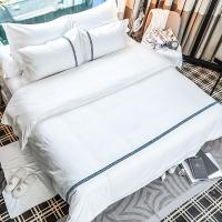 Buy cheap Jacquard Hotel Collection Linen Cover 100% Cotton Bed Sheets Nordic Style Ribbon Design from wholesalers