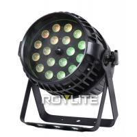 Quality Waterproof IP65 18 X 10w LED Par Lights 4 In 1 Beam Angle Zooming 10°- 60° for sale