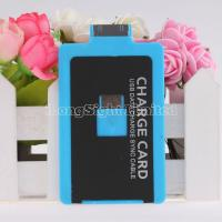 Wholesale Useful Credit Card Charging Cable For iPhone 4/4s Samsung HTC Blackberry with 3mm desgin from china suppliers