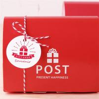 Buy cheap Red Printing Cardpaper Raw Materail Paper Food Box For Donut Bread Packaging from wholesalers