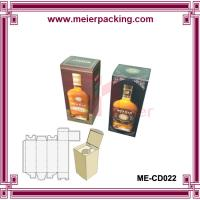 Wholesale 0.5l/1l vodka wine bottle packaging paper box/Europe class wine packing box ME-CD022 from china suppliers
