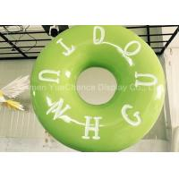 China Hand Carved Shop Display Christmas Decorations Promotional Big Size Fiberglass Donuts on sale