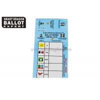 Quality Printing Voting Ballot Paper Double Sided Coated With Changeable Numbers for sale