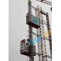 Wholesale Hot Dipped Zinc Single Building Site Hoist Red Frame Style 1000kgs - 3200kgs from china suppliers