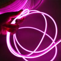 China Flexible Neon LED Light Glow EL Wire String Strip 5mm purple neon strips lightings on sale