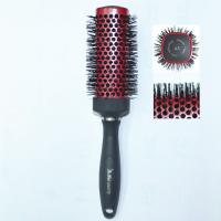 Nylon bristle Red Round Hair Brush Use for Professional Salon for sale
