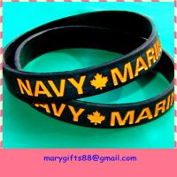 Top Quality Silicone Debossed Bands Custom Wristbands for sale