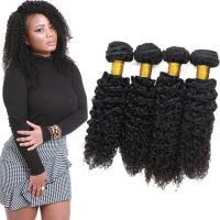 Wholesale Double Weft Remy Jerry Curly Hair Weave Bundles 24 Inch No Synthetic Hair from china suppliers