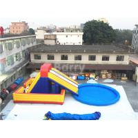Wholesale Amusement Inflatable Backyard Water Park , Inflatable Slide With Pool from china suppliers
