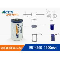 Quality ER14250 3.6V 1.2Ah 1/2AA lithium battery for sale