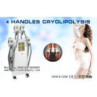 Buy cheap Four Handles Cryolipolysis Slimming Machine / Coolsculpting Fat Freezing Salon Equipment from Wholesalers