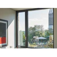 Quality Black Color Thermal Break Aluminium Fabrication Windows With S Glazed Insulated Glass for sale