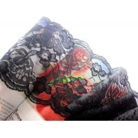 Wholesale black floral lace fabric trim DIY sewing wedding dress cloth L11 from china suppliers