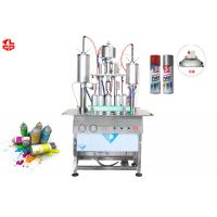 Aerosol Can Semi Automatic Filling Machine For Water Removable Spray Paint for sale
