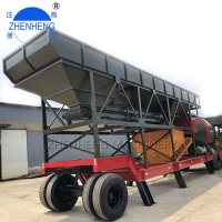 Wholesale 50CBM/HR YHZM50 Mobile Concrete Mixing Plant Building Projects from china suppliers