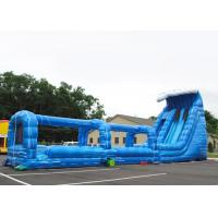 Wholesale Giant Adults Blue Long Double Inflatable Slip And Slide With Pool from china suppliers