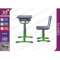 Buy cheap Hollow Polethylene Top Desk And Chair Set For Students , 5 Years Warranty from wholesalers