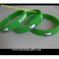 promotional printed logo fashion glowing in the dark silicone wristband/bracelet for sale