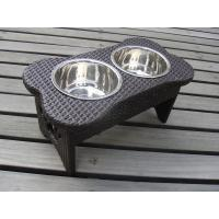 Wholesale Cute Indoor Hand-Woven Pet Feeder Pet Bowl For Hotel Home Beach from china suppliers