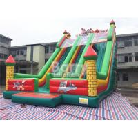 Wholesale Tom / Jack 14m Length Double Lane Slip Inflatable Dry Slide With Air Blower from china suppliers