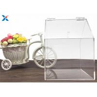 Wholesale House Shape Clear Acrylic Gift Boxes Candy Container Non Toxicity For Retail Store from china suppliers