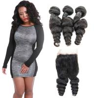 Wholesale Natural Raw 10 Inch Loose Curly Human Hair Extensions 3 Bundles OEM Service from china suppliers
