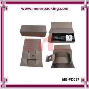 Wholesale Custom paper cardboard square wine box/Fashion folding wine glass box ME-FD037 from china suppliers