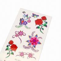 Wholesale Tattoo Sticker for Promotional Purposes, Made of PVC, Measures 5 x 7cm from china suppliers