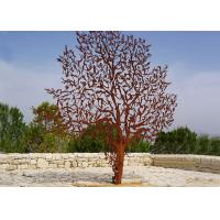 Wholesale Laser Cut Outdoor Metal Tree Sculpture Corrosion Stability Customized Size  from china suppliers