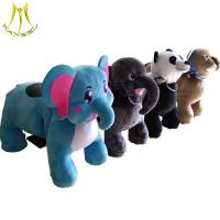 China Hansel battery operated animal toys and four wheel electric scooter plush ride on sale