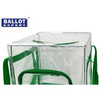 Wholesale 60L Foldable Transparent PVC Collapsible Ballot Box Organizer for Election from china suppliers