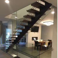 Buy cheap Classic european style black stair steel tread staircase from wholesalers