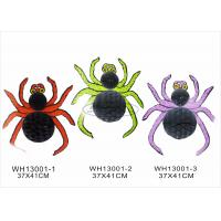 Buy cheap Orange Purple Paper Halloween Decorations With 30cm Halloween Spider Honeycomb from wholesalers