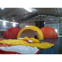 Quality Water Proof 6m Diameter PVC Tarpaulin Inflatable Camping Tent With EN14960 for sale