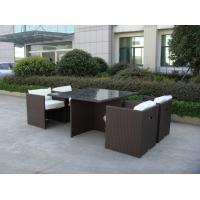 Wholesale 5pcs rattan cube sets outdoor wicker sofa set with square table from china suppliers