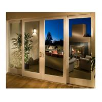 China Glass Wooden Sliding Doors Full Set Four Leaf White Painted for Living Room on sale