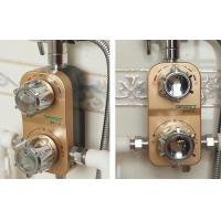 Wholesale Solar Bath Thermostatic Mixing Valve Removable Washable Zinc Alloy Custom Logo from china suppliers