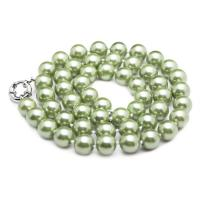 Wholesale Luxury Luster Green Round 10mm Shell Pearls Necklace 22 inches(N10628) from china suppliers