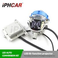 Quality IPHCAR Hid Headlight Coversion Kit Led Bi-Function Projector lens Led Lamp H1 H7 Auto Led Lens for sale