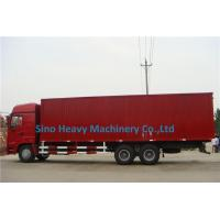 Wholesale 2 Axles Manual Low Bed Trailer / Two Single Red Lorry Trailer from china suppliers