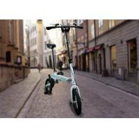 "Portable 12"" Folding Push Bikes , 250w 12-35 km/H 36v Green / White Folding Bike"