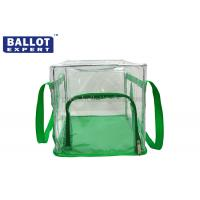 Wholesale Transparent Zipper Bag Collapsible Ballot Box Green Side Recycled from china suppliers
