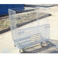 Wholesale Industrial stackable rigid welded storage cage with wheels from china suppliers