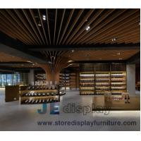 Wholesale Grand Wine cellar  interior design by Walnut wooden storage cabinets and Millwork wall panel for Villa Leisure furniture from china suppliers