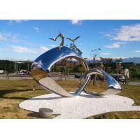 Wholesale Tall Metal Sculpture Artists Outdoor , Buckle Metal Outdoor Sculpture Abstract from china suppliers