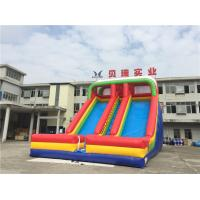 Wholesale Commercial Rainbow Double Lanes Inflatable Dry Slide For Kids With Logo Printing from china suppliers